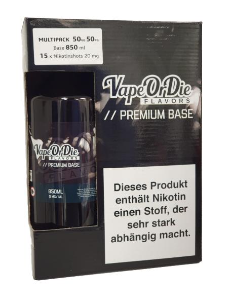 Basen Bundle 50/50 850ml +15x Nikotin Shot