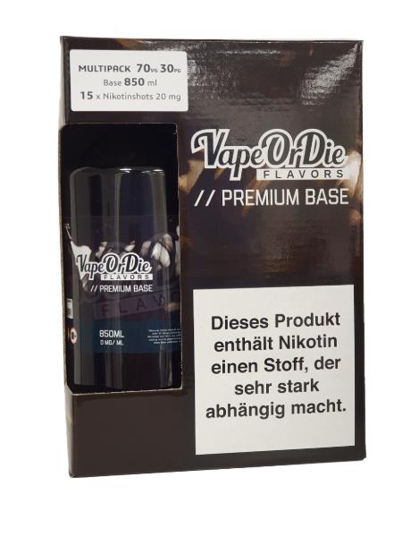 Basen Bundle 70/30 850ml +15x Nikotin Shot