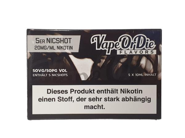 Nikotin Shot 50/50 5er Pack