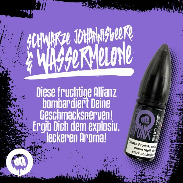 Riot Salt Punx NS Schwarze Johannisbeere Wassermelone 10mg
