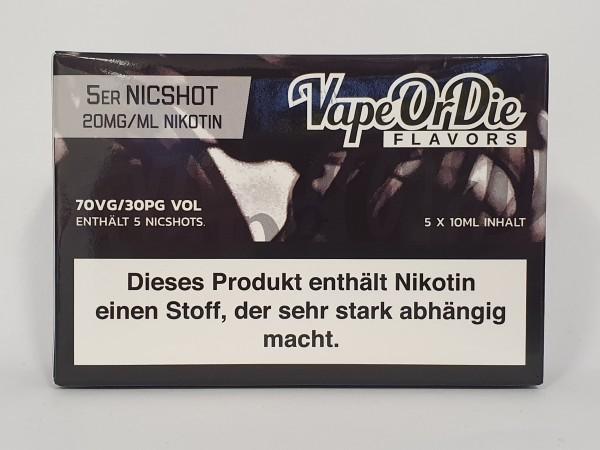 Nikotin Shot 70/30 5er Pack